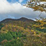 二口登山道の三角点から見る藤倉山