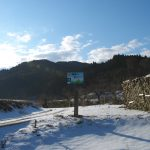 獅子畑登山口への道標